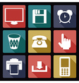 Computer flat icons 1 vector image vector image