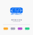console device game gaming psp 5 color glyph web vector image vector image