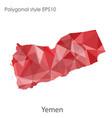 ctor isolated icon yemen map polygonal vector image vector image