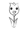 cute roses kawaii character vector image