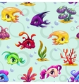 Cute underwater seamless pattern vector image