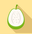 cutted guava icon flat style vector image vector image