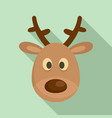 deer head icon flat style vector image vector image