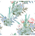 delicate pattern flowers eustoma vector image vector image