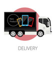 delivery service new smartphone shipment and vector image
