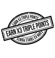 Earn X3 Triple Points rubber stamp vector image vector image