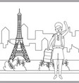 eiffel tower paris design vector image