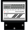 Electronic Energy Meter vector image vector image