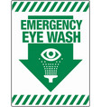 emergency eye wash wall sign eps 10 vector image vector image