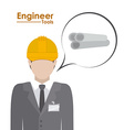 Engineer design vector image vector image