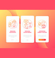 ergonomic design onboarding mobile app page vector image vector image