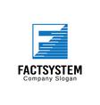 Factsystem Design vector image vector image