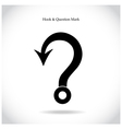 Fishing hook question mark sign vector image