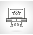 Flash video flat line icon vector image vector image