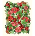 Floral background graphic flowers and leaves vector image vector image