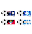 Football with Anguilla Antarctica Antigua Flag vector image vector image