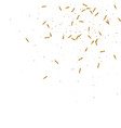 gold confetti background vector image
