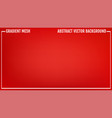 gradient red abstract background vector image vector image