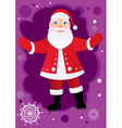 greetings from santa vector image vector image