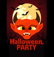 halloween party banner with devil vector image