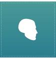 head flat icon vector image vector image
