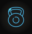heavy dumbbell icon in neon line style vector image