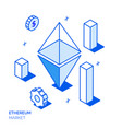 isometric ethereum investment line style concept vector image