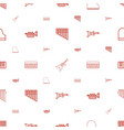 jazz icons pattern seamless white background vector image vector image
