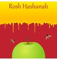 Jewish New Year greeting card Rosh Hashanah vector image