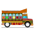 jingle truck vector image vector image