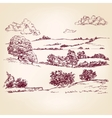 Landscape sketch drawing vector image