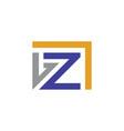 letter z company logo vector image vector image