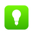 light bulb icon digital green vector image vector image