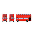 london double decker red bus cartoon vector image vector image