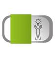 man pictogram cartoon vector image vector image