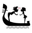 man woman love heart symbols and gondola vector image