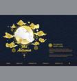 mid autumn festival web banner design template