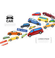 modern cars template vector image vector image