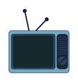 old vintage television vector image