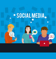 people on social media vector image