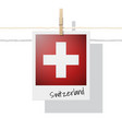 photo of switzerland flag vector image vector image