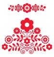 polish folk art design elements inspired vector image vector image