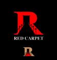 r letter red carpet symbol concept vector image vector image