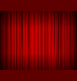realistic red full closed stage curtains vector image vector image
