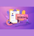 recruitment agency creative concept vector image