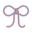 rope bow silhouette vector image vector image