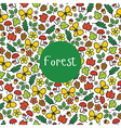 Seamless pattern Forest vector image vector image