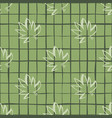 seamless pattern with white outline cannabis vector image vector image