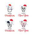set christmas tree toys icons template vector image