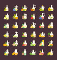 set flat icons oils vector image vector image